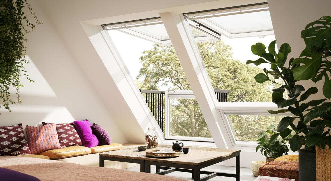 мансардное окно-балкон Velux Cabrio. Одесса. Фото 1.