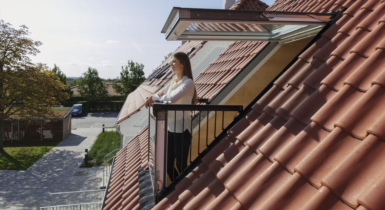 мансардное окно-балкон Velux Cabrio. Одесса. Фото 4.