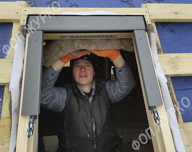 Установка мансардных окон Одесса - Журко А.А. цена
